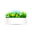 label with natural theme vector image