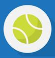 of sport symbol on tennis flat vector image