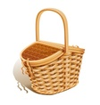 Basket for picnic vector image vector image