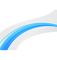Blue abstract line - folder card template vector image