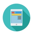 Tablet PC icon vector image