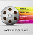 movie infographics vector image