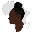The Africa and its women vector image