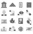 Banking Icon Black Set vector image
