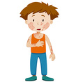 Boy with infectious disease vector image