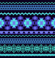 beautifu Striped Tribal ethnic seamless pattern vector image
