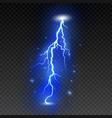 bright lightning on transparent background vector image
