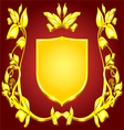 coat of arms gold monogram vector image