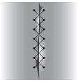 Cross linked thread seam vector image