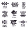 tribal aztec pattern indian graphics for vector image