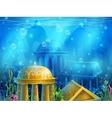 Underwater ruins vector image
