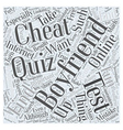 The Cheating Boyfriend Test Is There Such a Thing vector image