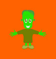 flat on background of zombie men vector image