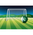 A soccer ball with the Pakistan flag vector image vector image