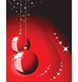 christmas bulbs vector image vector image