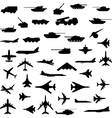 aircraft armored and guns vector image