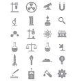 Gray science icons set vector image