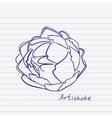 Artichoke doodle vector image