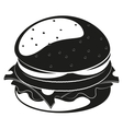 Burger silhouette vector image