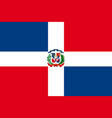 flag of dominican republic vector image
