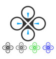 Fly drone flat icon vector image