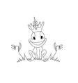 Frog Prince Cartoon Character vector image