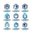 hexagonal real estate logo vector image