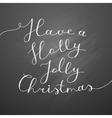 holly jolly christmas vector image