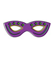 mardi gras mask with jewelry decoration festive vector image