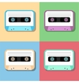 old vintage audio tapes icon vector image