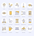 plumbing service flat line icons house vector image