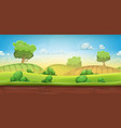 seamless country landscape for ui game vector image