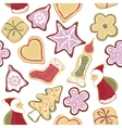 christmas cookie vector image vector image