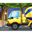A cement truck vector image vector image