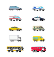 Motor Vehicles Icon Set vector image vector image