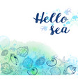 marine background with sea shells vector image