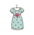 Pretty dress vector image vector image