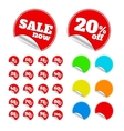 Red sticker vector image