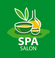 Logo attributes for spa salon vector image