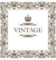 vintage frame decor ornament vector image