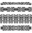 black silhouette pattern ornament vector image