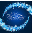 christmas background snowflakes on blue background vector image