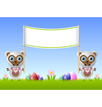 Easter sheeps vector image