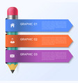 infographic template with pencil concept vector image