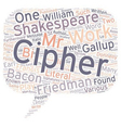 Shakespeare Cipher Stories Part 1 text background vector image