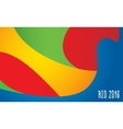 Summer olimpic games Rio 2016 background pattern vector image