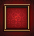 old picture frame on red damask background 0508 vector image