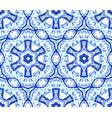 kaleidoscopic light blue flower ornament vector image