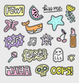 set of patch designs vector image