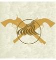 Sheriffs badge-5 vector image